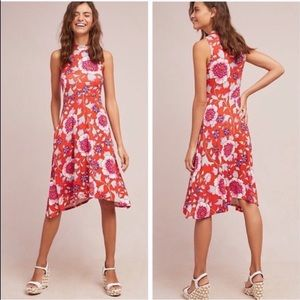 Anthropologie Maeve Cleary Floral Dress